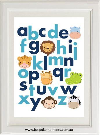 Product image of Jungle Alphabet Print