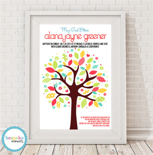 Product image of Tree Christening Print