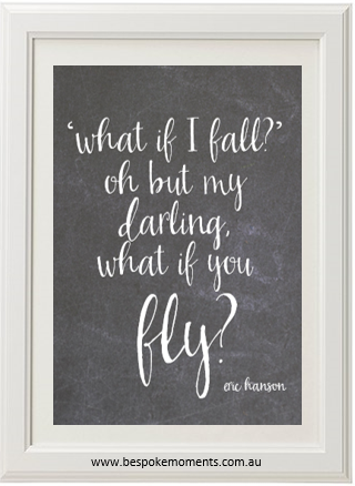Product image of What If I Fall Chalk Print