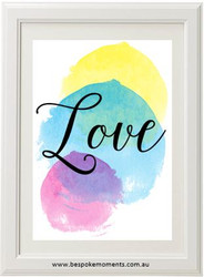 Product image of Watercolour Love Print