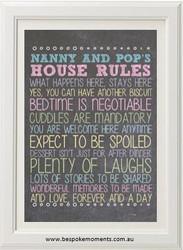 Personalised Grandparents' Rules Print