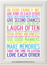 Family Rules Print (Various Colours)