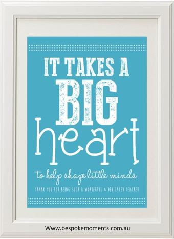 Product image of Big Heart Teacher Print