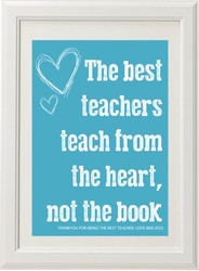 Product image of Teach From The Heart Print