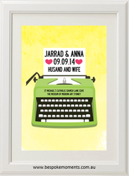 Typewriter Wedding Print