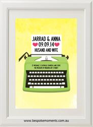 Typewriter Wedding Print