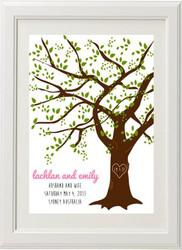 Wedding Oak Tree Print