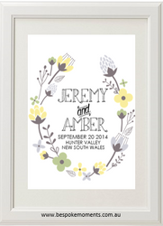 Floral Yellow Wedding Print