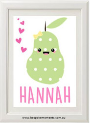 Kawaii pear name print