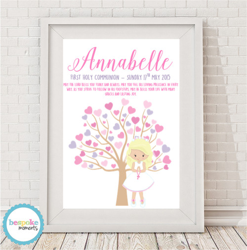 Product image of Pastel First Holy Communion Tree Print