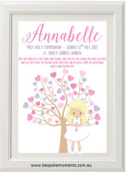 Pastel First Holy Communion Tree Print
