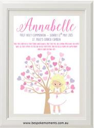 Pastel First Holy Communion Tree Print