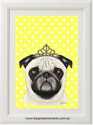 Pug Princess Print