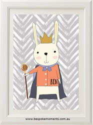 Product image of Royal Rabbit Name Print