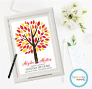 Autumn Wedding Signing Tree 1