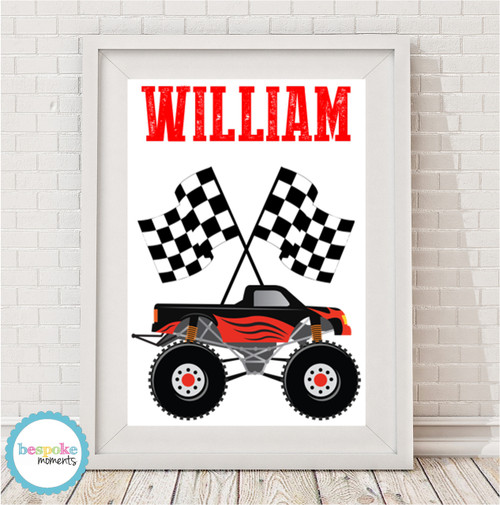 Product image of Monster Truck Name Print