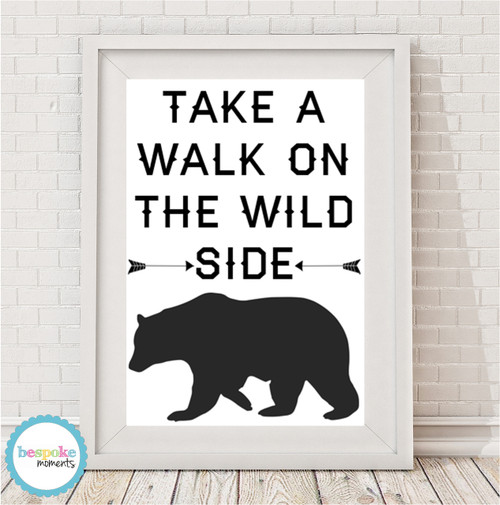 Product image of Take A Walk On The Wild Side Monochrome Print