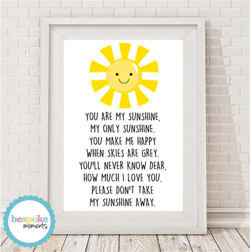 Product image of You Are My Sunshine Print