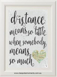 Long Distance Love Print