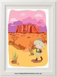 Iconic Uluru Girls' Print