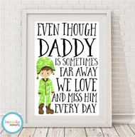 Product image of Army Daddy Print