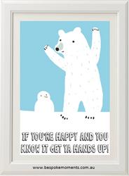 Happy Polar Bear Print