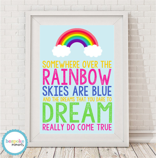 Product image of Somewhere Over The Rainbow Print