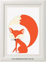 Sleepy Boy Fox Print