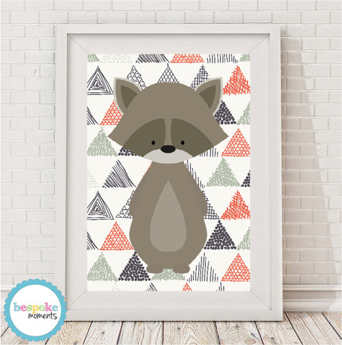Product image of Woodland Raccoon Print
