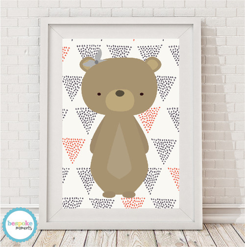 Product image of Woodland Bear Print