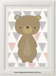 Woodland Bear Print