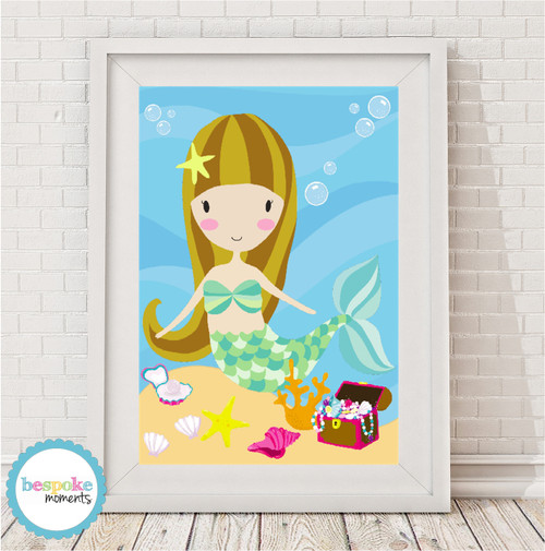 Product image of Lucy The Mermaid Print