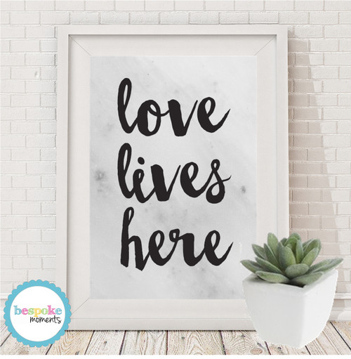 Product image of Marble Love Lives Here Print