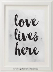 Marble Love Lives Here Print