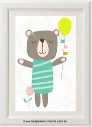 Happy Bear Balloon Print