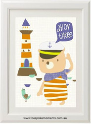 Ahoy There Captain Print