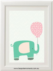 Elephant Balloon Print