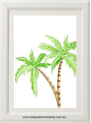 Watercolour Palms Print