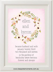 Blushing Blooms Wedding Print