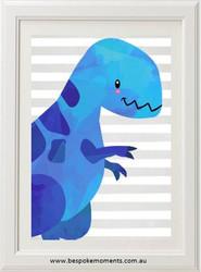 Dinosaur Print - Blue