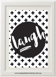 Monochrome Laugh Print