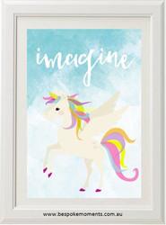 Imagine Unicorn Print