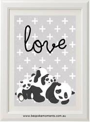 Panda Love Family Print