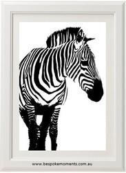 Zebra Monochrome Print