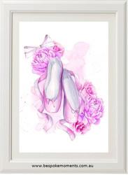Pastel Ballet Shoes Print