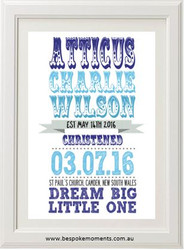 Circus Roll Christening Print - Boy