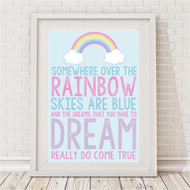 Somewhere Over The Rainbow Pastel Print