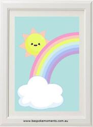 Peeking Sun Rainbow Print
