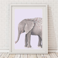Boho Tribal Elephant Print Lilac
