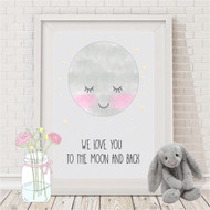 We Love You Moon Print